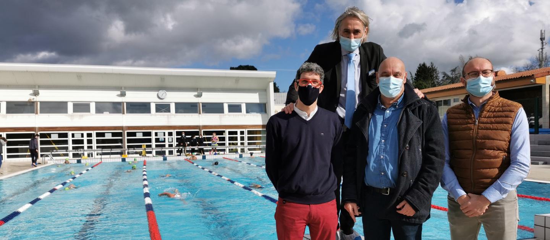 Reportage de TF1 en présence de Jérome Marchais, Emmanuel Rivery, M Menard et STephane Clemot Piscine divaquatic